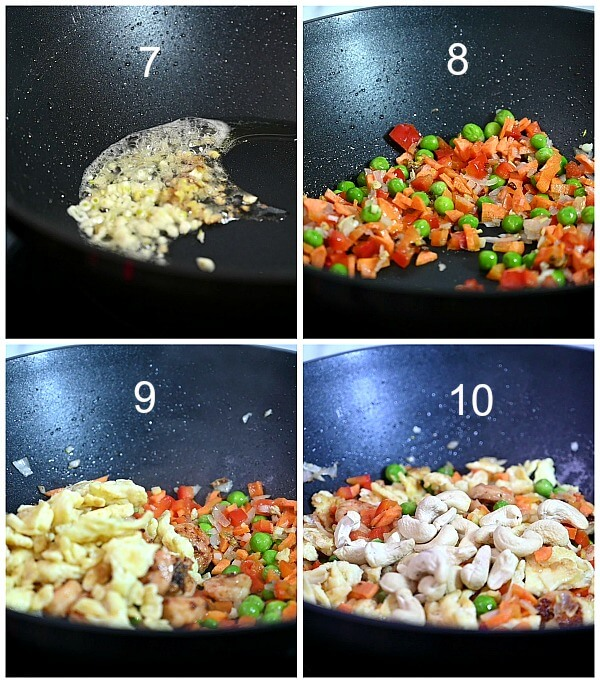 steps to make pineapple fried rice