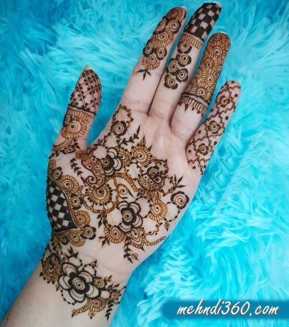Latest Mehndi Design Front Hand