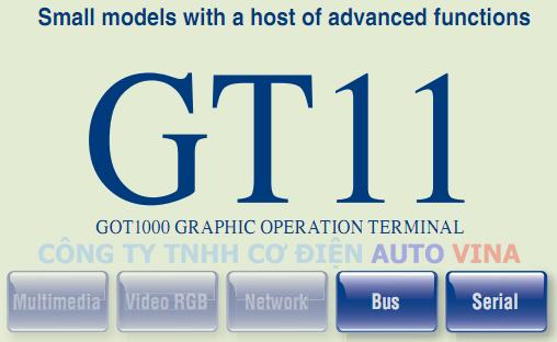 Màn hình Mitsubishi GT11 - GOT1000 Series, đại lý bán màn hình cảm ứng HMI Mitsubishi