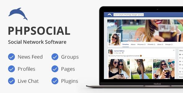phpSocial v6.5.0 – social network script