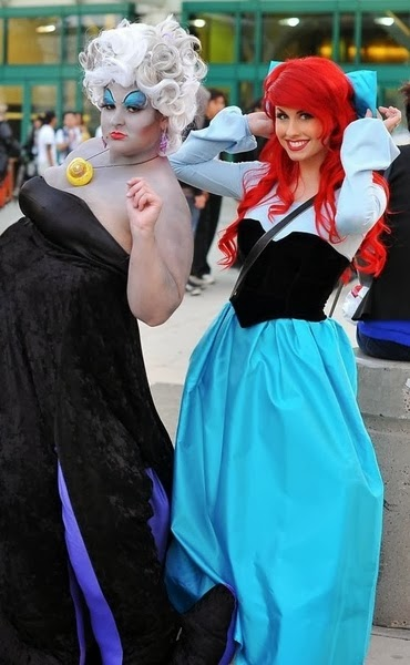 Sea Witch Ursula and Little Mermaid Halloween