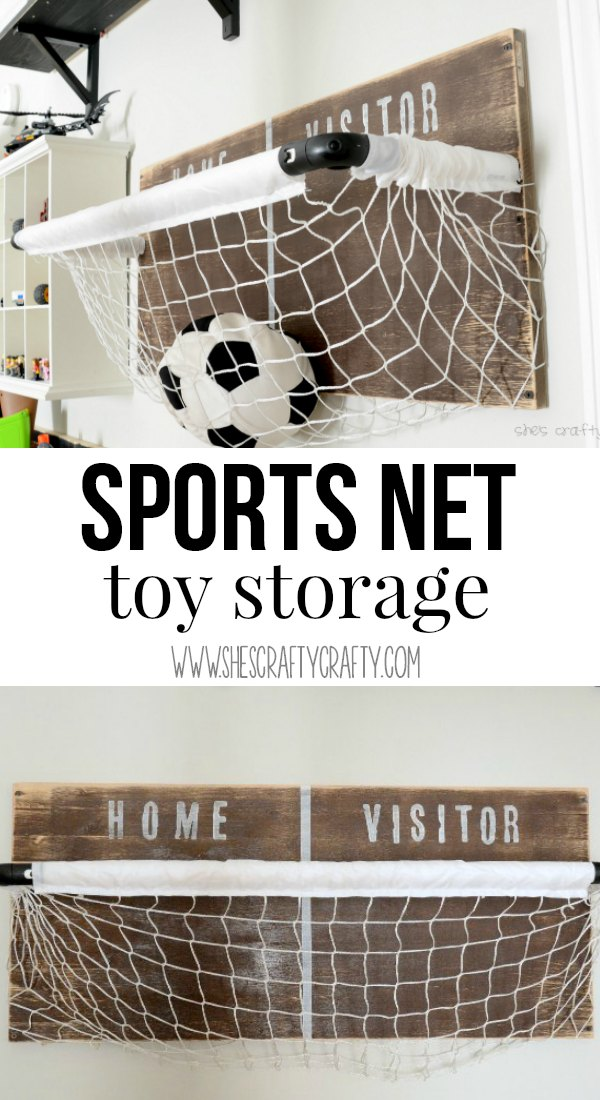 DIY net for toy storage