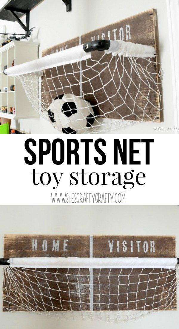 DIY net for toy storage