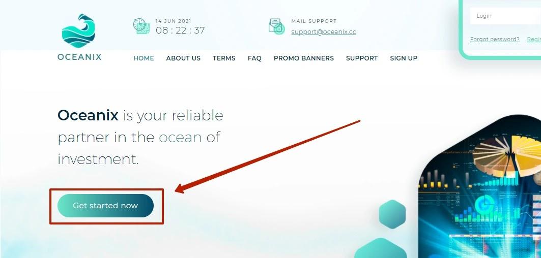 Регистрация в Oceanix