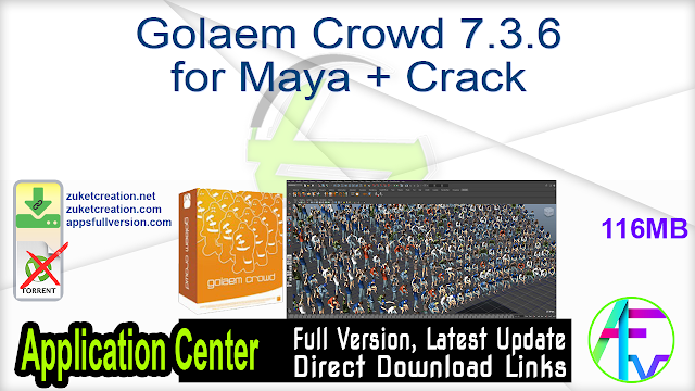 Golaem Crowd 7.3.6 for Maya + Crack