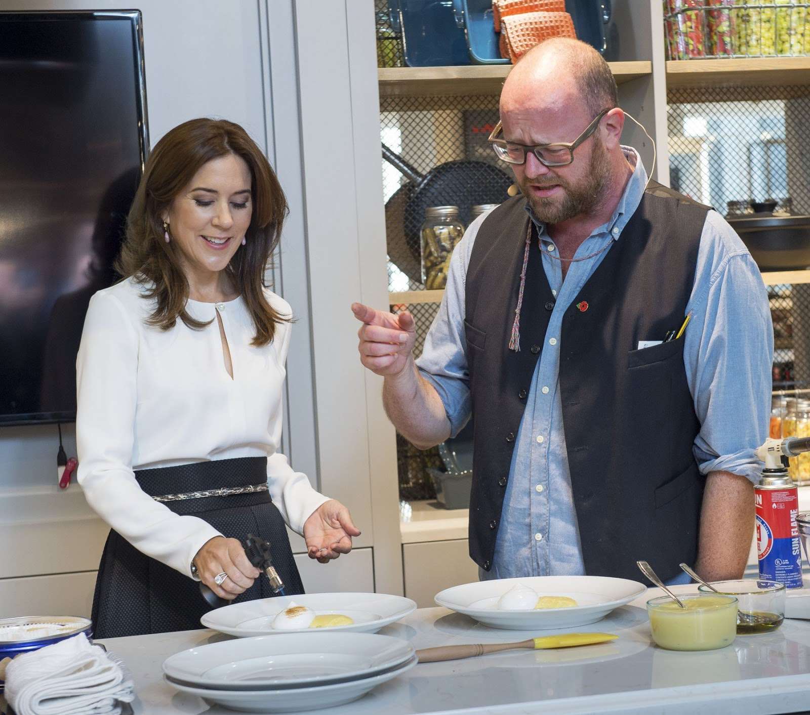 Crown Princess Mary cooks in Canada