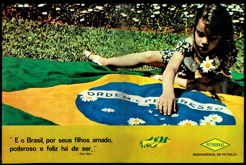 Propaganda comemorativa da Petrobrás pelos 150 anos da Independência do Brasil em 1972