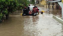 Hujan Lebat Sepanjang Malam, Batang Lembang Meluap, Ratusan Rumah Terendam