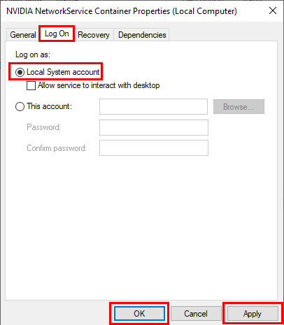 صفحة Nvidia Telemetry Container لـ حل مشكلة error code 0x0003 في بطاقة نفيديا