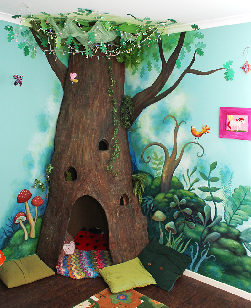 jules madden the completed paper mache tree project. Black Bedroom Furniture Sets. Home Design Ideas