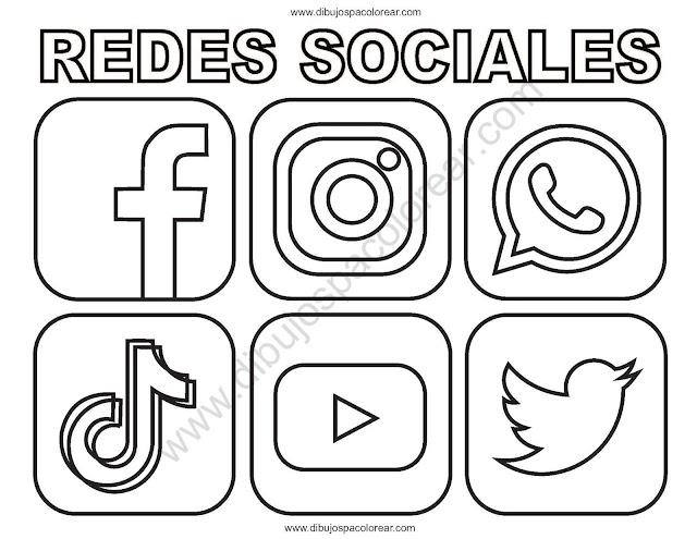 Logos de redes sociales para colorear