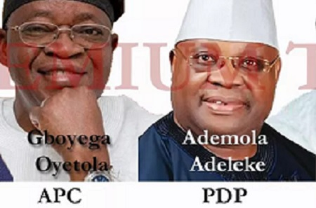 Osun Governorship election candidates
