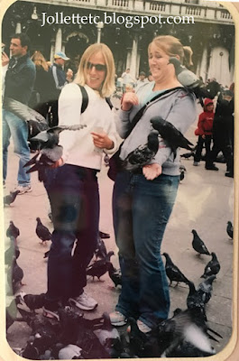 Venice 2004 Jordan and Zoe feeding birds  https://jollettetc.blogspot.com