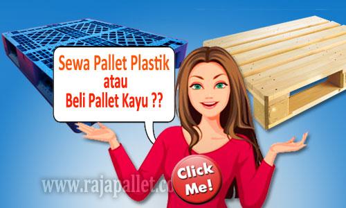 Sewa Pallet Plastik atau Beli Pallet Kayu
