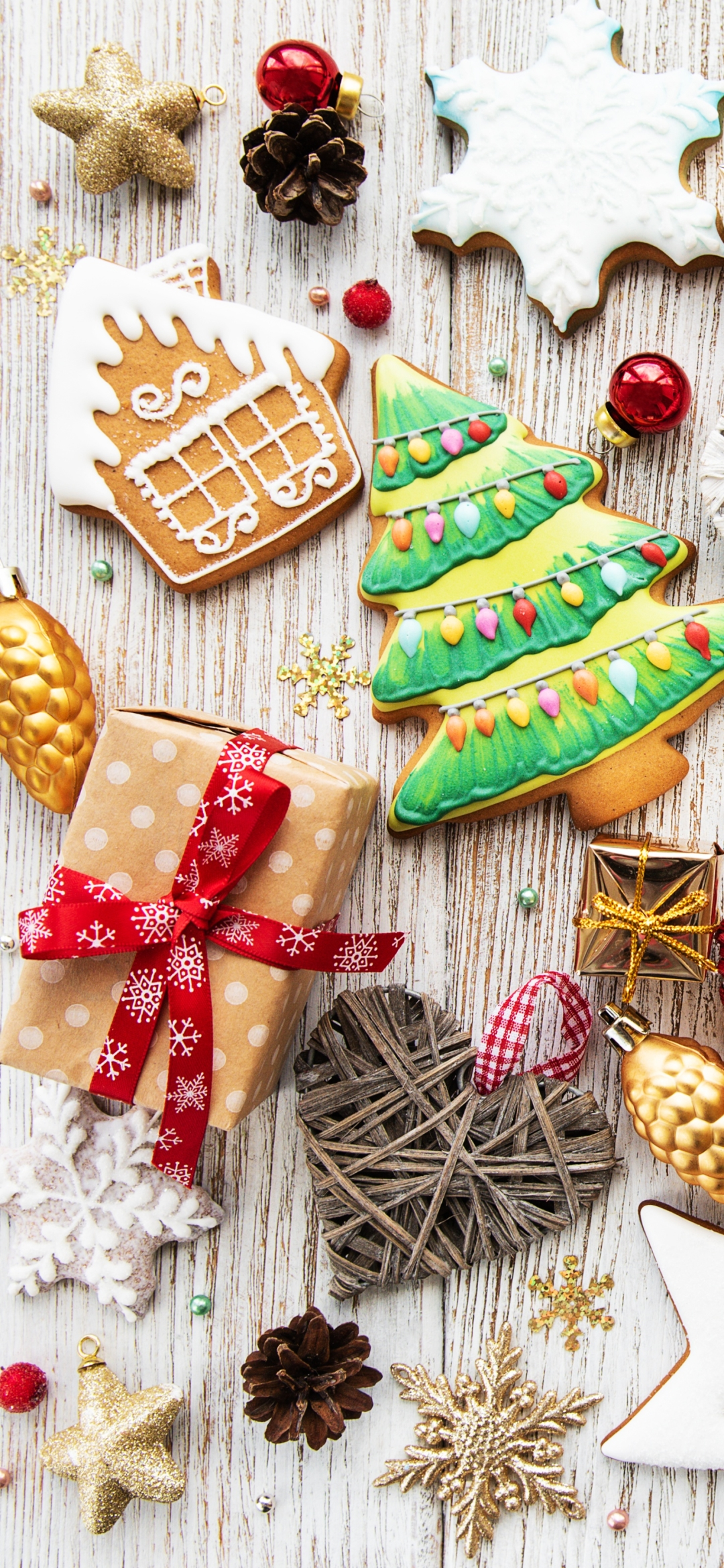 Christmas ornaments Mobile wallpaper