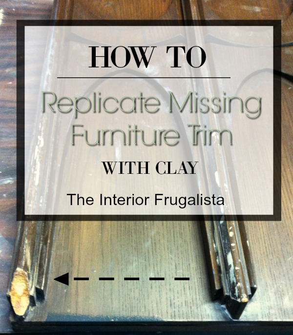 How To Replicate Missing Furniture Trim With Clay