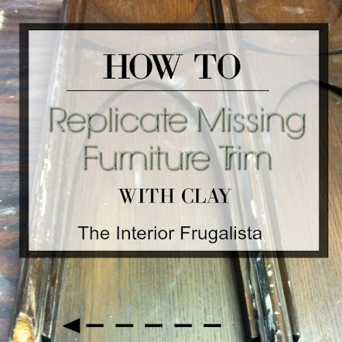 How To Replicate Missing Furniture Trim With Clay (A Sewing Cabinet Makeover)