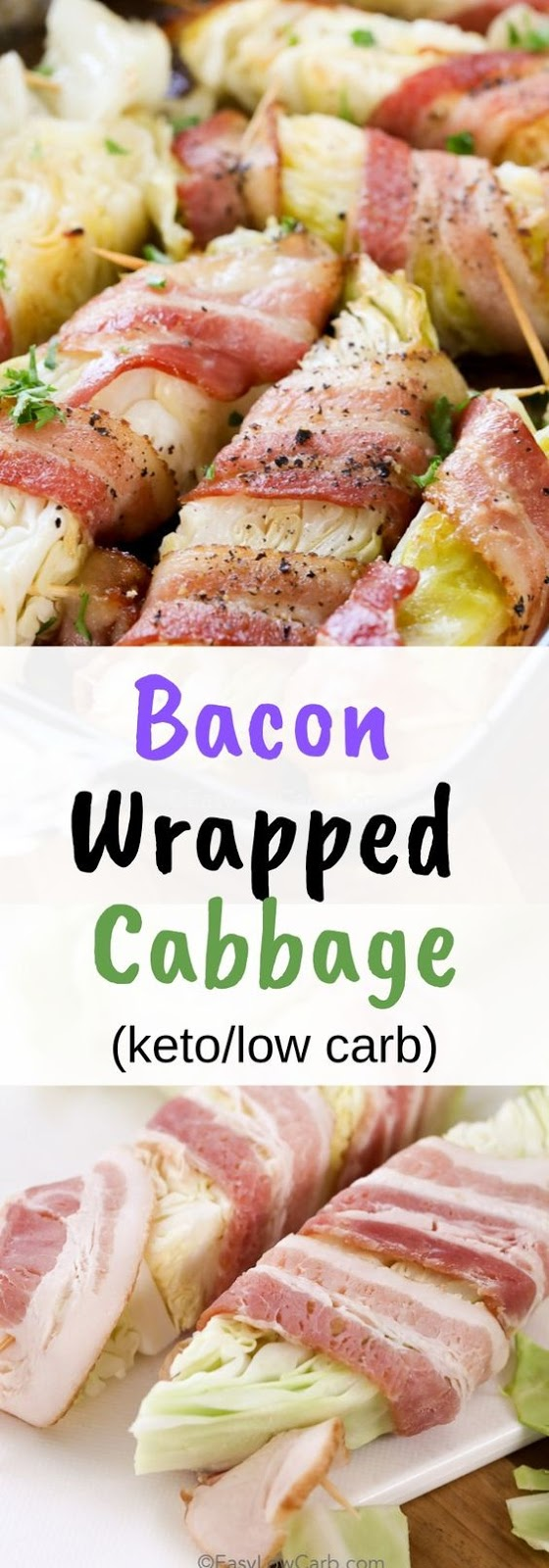 Bacon Wrapped Cabbage (keto/low carb)
