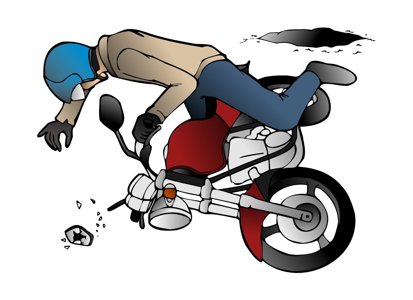Gambar Kartun Tabrakan Motor Galeriotto