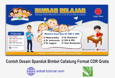 Download Contoh Desain Spanduk Bimbel Calistung Format CDR Gratis