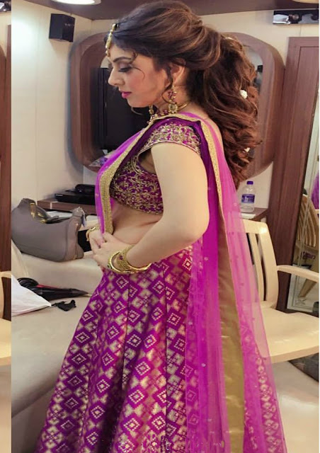 Hansika in Half Saree For Saravana Stores ad Shoot