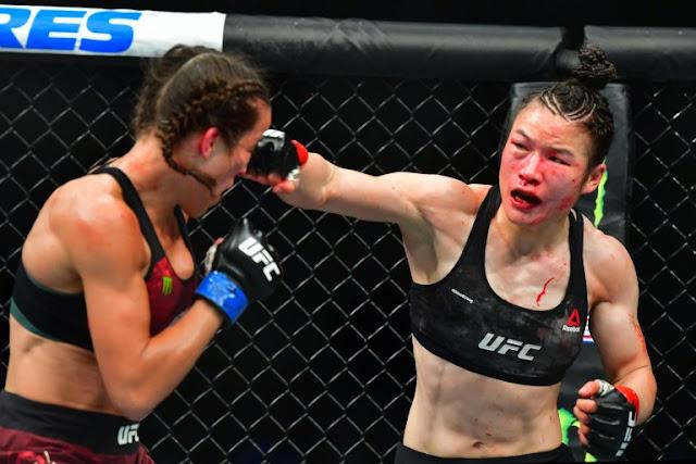 Weili Zhang wins Joanna Jedrzejczyk at UFC 248