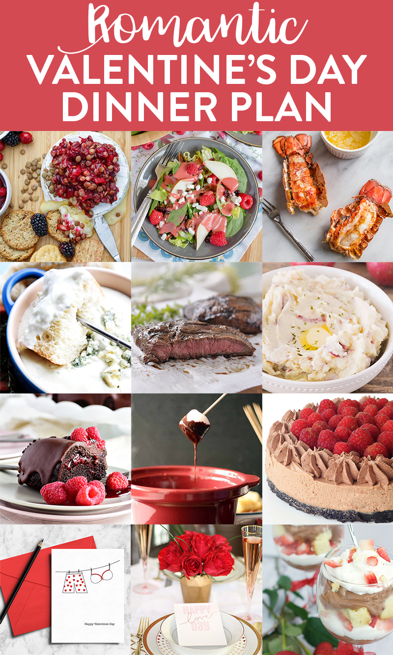 This Valentine's Day Meal Plan has got everything you need to make Valentine's Day a night to remember. From appetizers, to desserts, to printables and party ideas, we've got you covered!