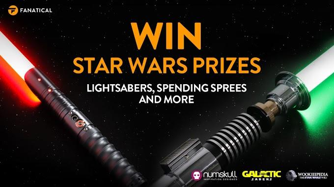 Mega Sorteio Star Wars - Sabres de Luz, GiftCards e muito mais