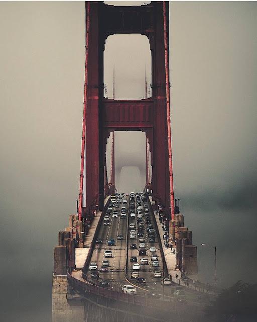 جسر غولدن غيت أو جسر البوابة الذهبية Golden Gate Bridge