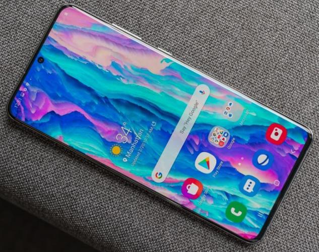 Screen of Galaxy S20 Ultra