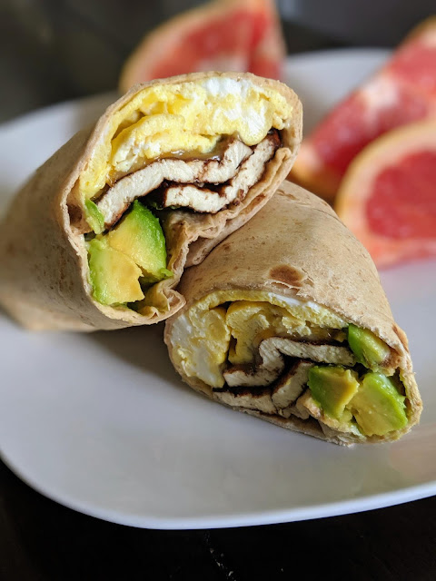Tofu Avocado Breakfast Wrap