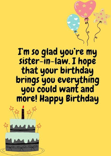 sweet birthday wishes for sister in law
