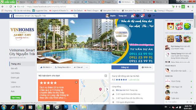 Rất dễ để tìm kiếm một trang về bất động sản trên facebook