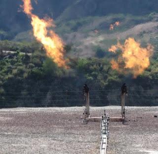 Flare gas di sumur minyak