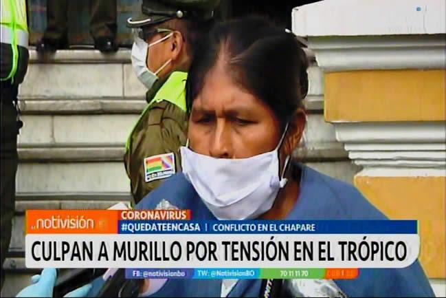 VIDEO: Juana Quispe culpa a Murillo por provocar y de todo lo que pueda pasar en el trópico cochabambino