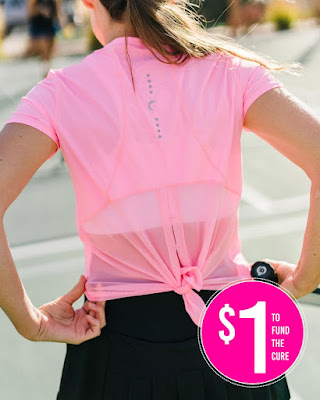 Pink Panel Mesh T from Zyia Active