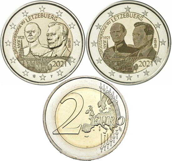 Luxembourg 2 euro 2021 - 100 years of the birth of Grand Duke Jean