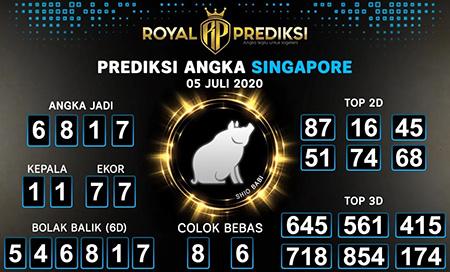 Royal Prediksi Togel Singapura Minggu 05 Juli 2020