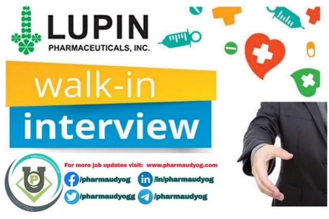 Lupin | Walk-in for Production on 22 Dec 2019 | Pharma Jobs in Aurangabad