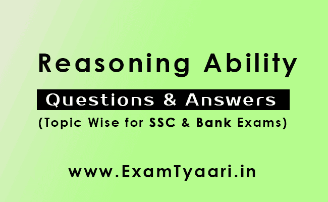 Reasoning Ability Questions Answers Pdf