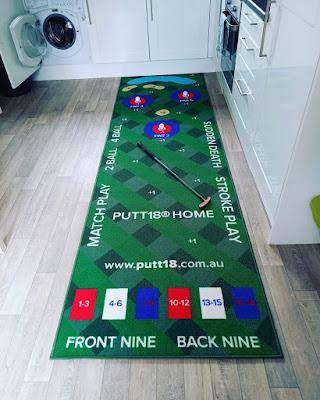 The Putt18 putting game mat