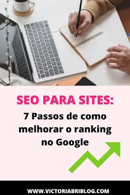 SEO para sites: Como melhorar o ranking no Google