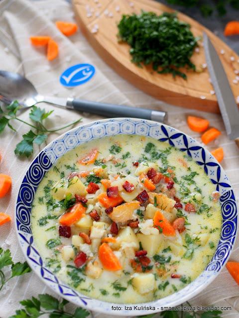 Zupa z białą rybą