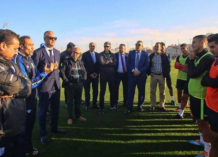 أبرشان يدعم لاعبي اتحاد طنجة