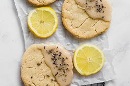 Vegan Lavender Lemon Cookies