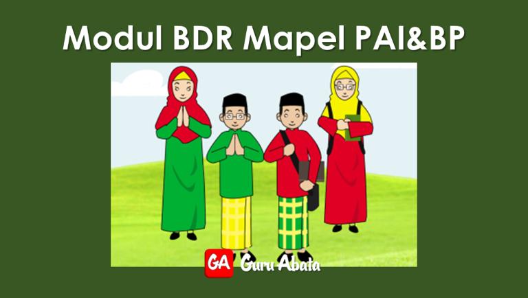 Download Buku Modul BDR Mapel PAI & BP SD Kelas 1 2 3 4 5 6