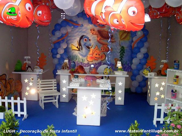 Decoração festa de aniversário infantil tema do Nemo - Provençal luxo