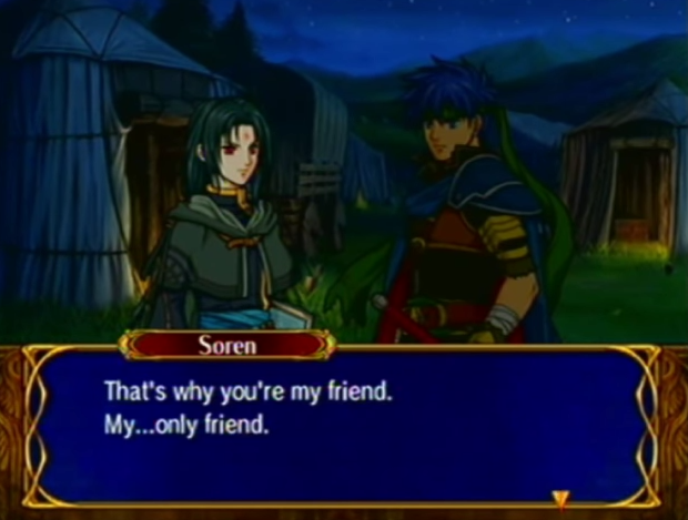 Fire Emblem Path of Radiance Ike Soren A level Support only friend