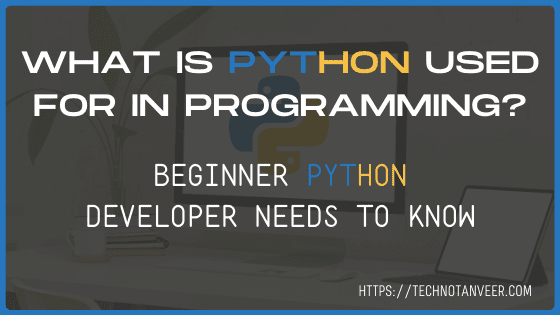 What is Python used for programming? 2020