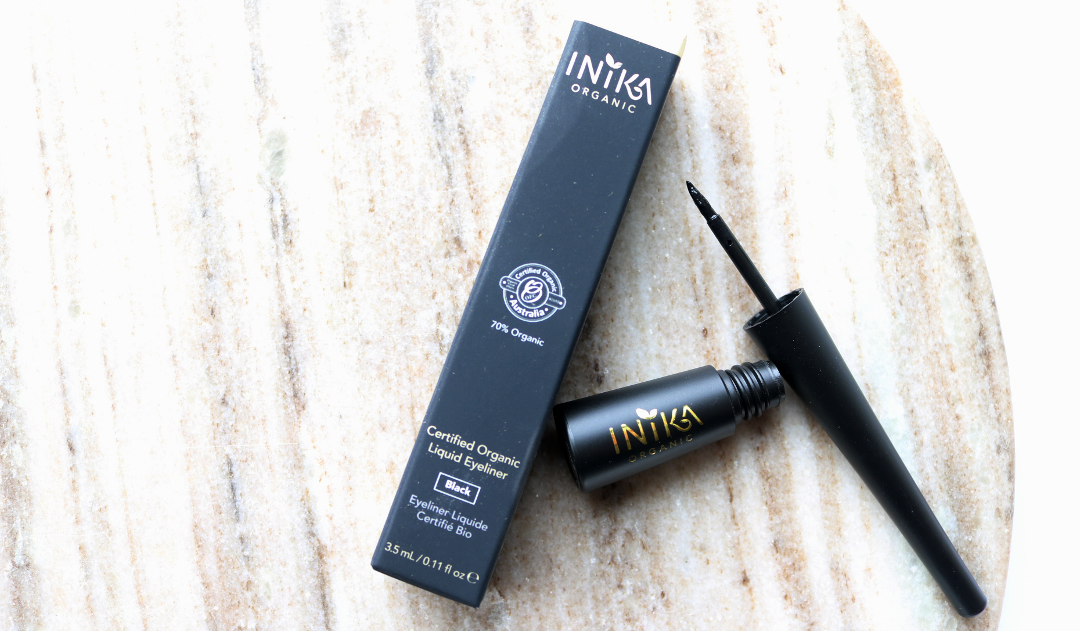 INIKA Certified Organic Liquid Eyeliner in Black